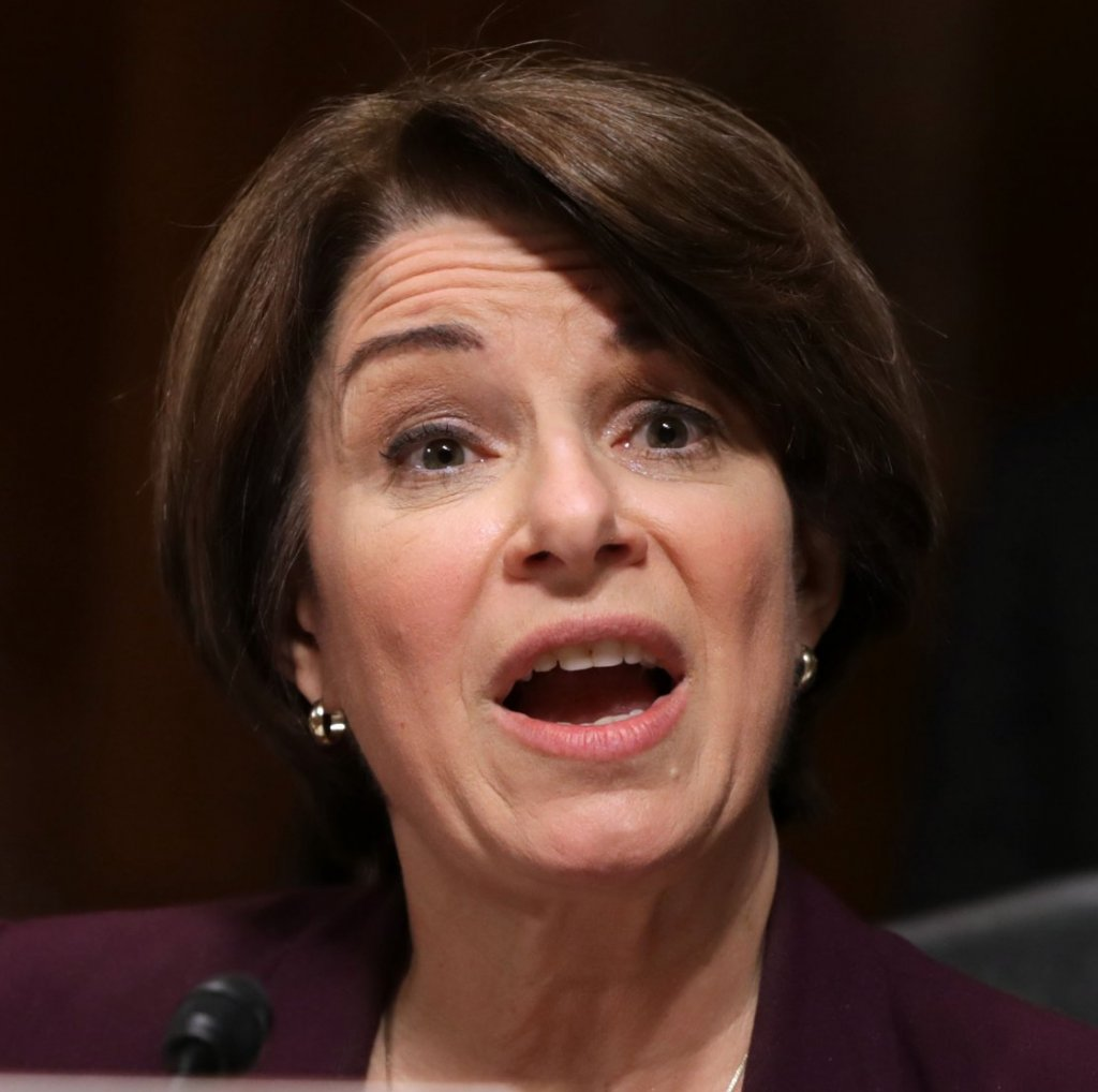 Sen. Amy Klobuchar (D-MN) delivers remarks about Supreme Court nominee Judge Brett Kavanaugh during a mark up hearing in the Dirksen Senate Office Building on Sept. 28, 2018.