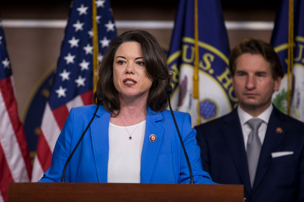 Rep. Angie Craig (D-MN) speaking at DC news conference